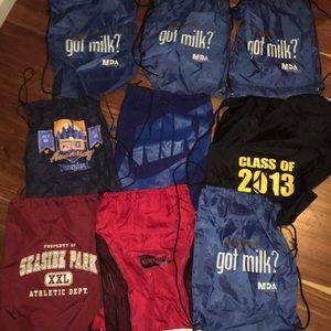Bundle of 9 back packs